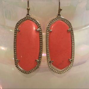 Kendra Scott Elle Drop Earrings - Coral